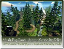 Mesh Big Forest Home Scene by Felix 389 Li=64x64m copy-mody