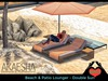 Outdoor Patio and Beach Recliner - Lounger (Style: Double Sun) Bento Animations
