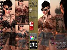 V-Twins- Biker Clothes - Blasphemy Biker Version **MESH Outfit [Mesh Bodies Compatible] Maitreya Slink Belleza