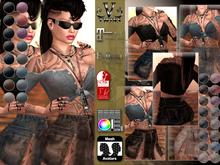 V-Twins- Casual Clothes - Blasphemy Color Version **MESH Outfit [Mesh Bodies Compatible] Maitreya Slink Belleza