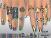 [SuXue Mesh] FATPACK N4 Bento Rigged Rings Nails Jewels Maitreya Lara Slink Hud (unified or one by one)