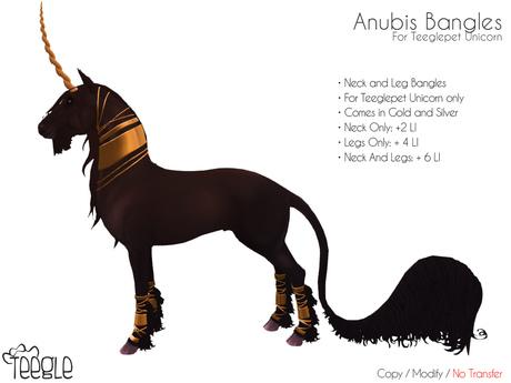 [Teegle] Anubis Bangles for Teeglepet Unicorn