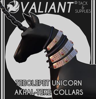 VALIANT - TEEGLEPET UNICORN Akhal-Teke Collars