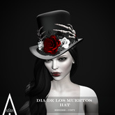 AiShA. Dia De Los Muertos Hat Red Moon