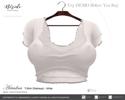 ~Nerido~ Ariadna T-Shirt(Maitreya)-White