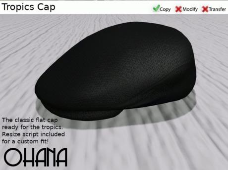 Ohana Tropics Cap Black