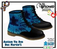 Autism Tie Dye Doc Martins - 2019