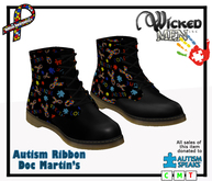 Autism Ribbon Doc Martins - 2019