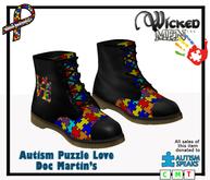 Autism Puzzle love Doc Martins - 2019