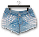 "Addams ""Yvette"" Pearl Denim Shorts #35"