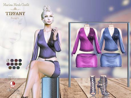 ::TD:: Marina Mesh Outfit ~ 11 Textures HUD