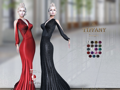 ::TD:: Yvonne Mesh Gown ~ 19 Textures HUD