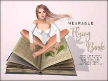 Boudoir-Wearable Flying Book