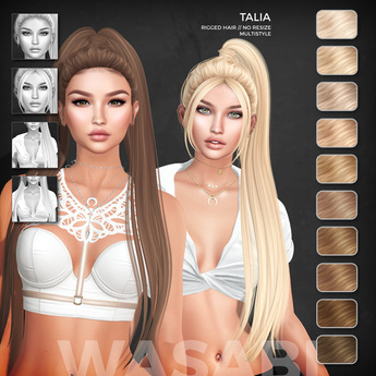 Wasabi // Talia Mesh Hair - Blonds