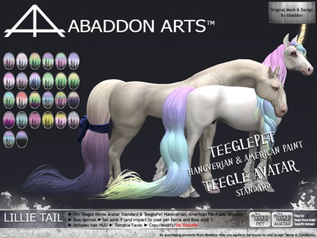 ABADDON ARTS - THAV/PET - Lillie Tail STEEL~F PASTELS I