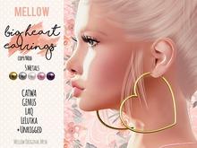 Big Heart Earrings ♥ GENUS CATWA LAQ LeLutka [BENTO] rigged ♥ Big Hoops Large Hoop Earrings