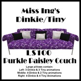 Miss Ing's DT Purkle Paisley Couch Boxed