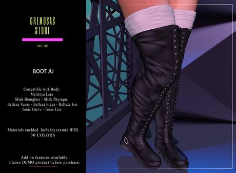 .:: Cremosas Store ::. Boot Ju + HUD 30 Colors