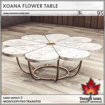 Trompe Loeil - Xoana Flower Table [mesh]
