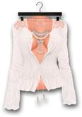 "Addams ""Yvette"" Lace Boho Shirt & Necklace #01"
