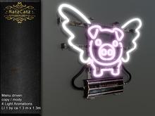 .: RatzCatz :. Neon Sign Wall *Flying Piggy*
