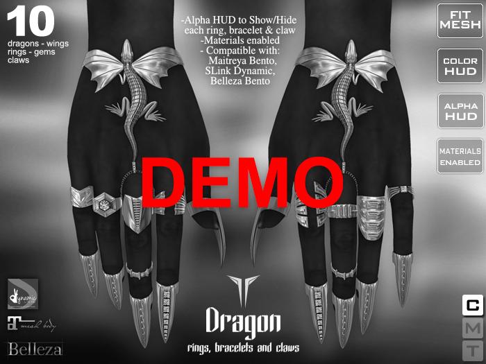 **RE** Dragon Rings, Bracelets & Claws - DEMO