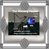 The wedding Harpist Plays Wedding March Music- BOX