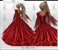Ecarlate - Dress Princess Red/ Robe Princesse Rouge - Offy