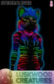 Luskwood Tiger - Spectral Female - Furry Avatar