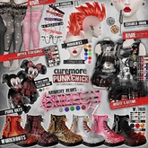 CUREMORE / Punk Chick / WORKBOOTS/  COAL