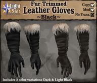 *LightStar - Fur Trimmed Gloves-Black