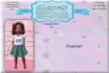 >rOMe< Toddler Skirt Set 'Summer Time - luggage