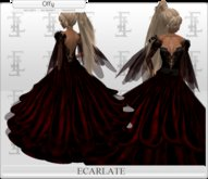 Ecarlate - Dress Princess Black/ Robe Princesse Noir - Offy