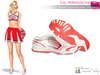 FULL PERM MAITREYA Pink and White Sports Shoes Runners Sneakers