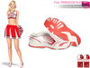 FULL PERM SLINK FLAT FEET Pink and White Sports Shoes Runners Sneakers