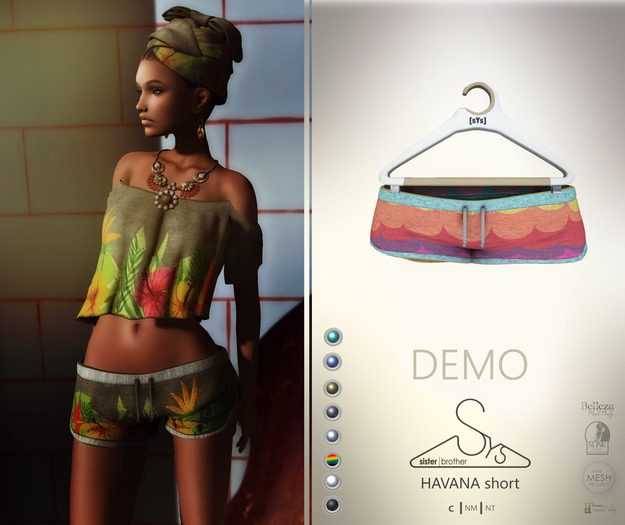 [sYs] HAVANA short (fitted & body mesh) - DEMO