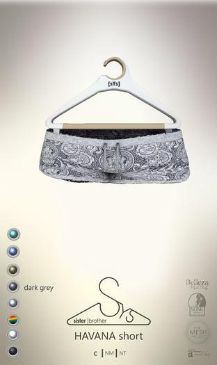 [sYs] HAVANA short (fitted & body mesh) - dark grey