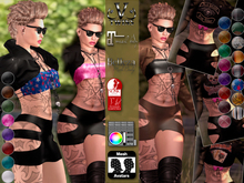 V-Twins- Biker Clothes - Railroad Biker Version **MESH Outfit [Mesh Bodies Compatible] Maitreya Slink Belleza