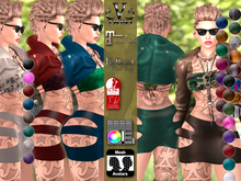 V-Twins- Biker Clothes - Railroad Casual Version **MESH Outfit [Mesh Bodies Compatible] Maitreya Slink Belleza