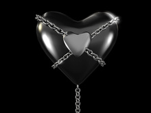 Chained Heart Tip Jar Black