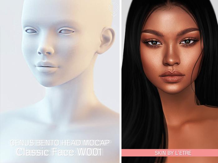 GENUS Project - Genus Head - Classic Face W001 - Mocap