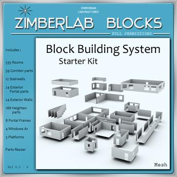Mesh House Building System full perm - ZimberLab Blocks - Basic (Starter Kit)