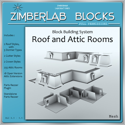 Roof and Attic Block Building System full perm - ZimberLab Blocks Expansion