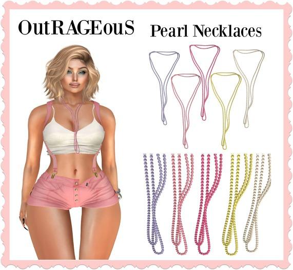 OutRAGEouS - Long Pearl Necklace - Pastels - Dollarbie