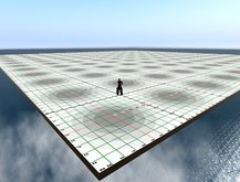 1 prim Building Platform 16384 sqm 128x128 1/4 SIM Measurement Building Grid