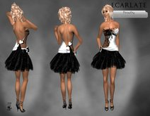 Ecarlate - Dress Gown Formal - Wihte / Robe soiree decontracte -Pirouthy