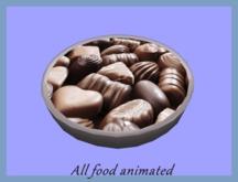 Bowl of chocolates, gives animated chocolate.