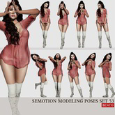 SEmotion Female Bento Modeling poses Set 53 - 10 static poses