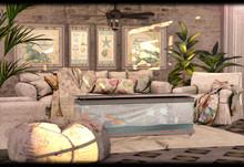 "Heart Homes ""Blossom Spring"" coastal living room - (FAMILY)"