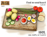 Food on wood board v4 - Old World - Medieval / Rustic